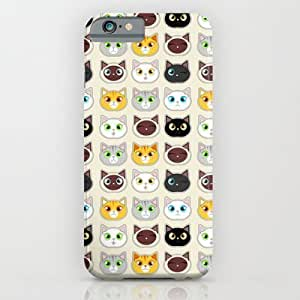 Society6 - Cute Cat Expressions Pattern iPhone 6 Case by Cute To Boot