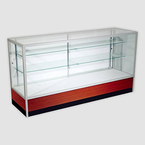 Mid-Atlantic Store Fixtures Metal Framed Showcase In Walnut 4'' by Mid-Atlantic Store Fixtures