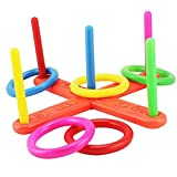Lanlan Ring Toss Hoopla Game Set Ferrule Throwing Game Party Game/ Gift for Adults and Kids Random Color