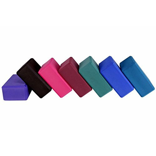 YogaAccessories 3'' Foam Exercise Yoga Block