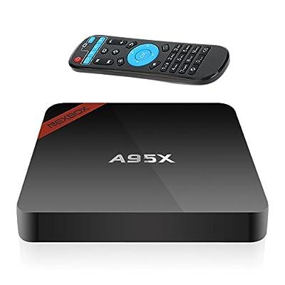 Docooler® NEXBOX A95X Smart Android TV Box KODI Mini PC 4K 1G / 8G Android 6.0 Amlogic S905X Quad-Core 64 bit XBMC UHD WiFi & LAN H.265 DLNA Miracast HD Media Player US Plug by Docooler