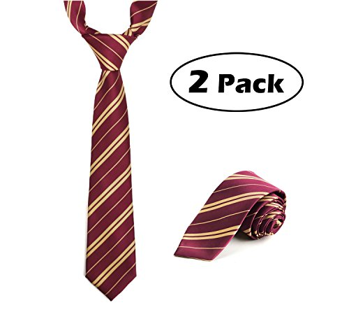 Hogwarts Costumes And Accessories (2 Pack Deluxe Ties Cosplay Costume Accessory for Halloween and Christmas)