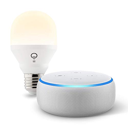 Echo Dot (3rd Gen) Sandstone bundle with LIFX Wi-Fi Smart Bulb