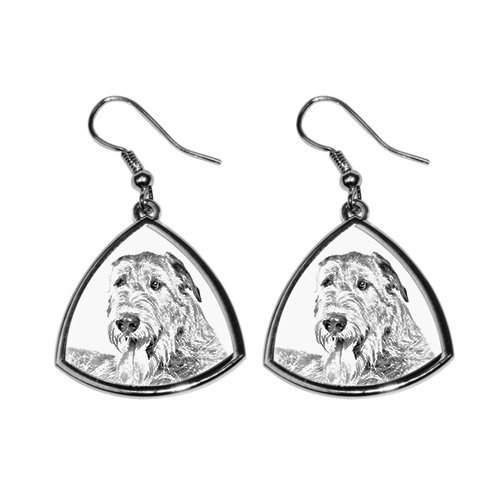 Irish Wolfhound, collection of earrings with images of purebred dogs, unique gift - Irish Wolfhound Earrings