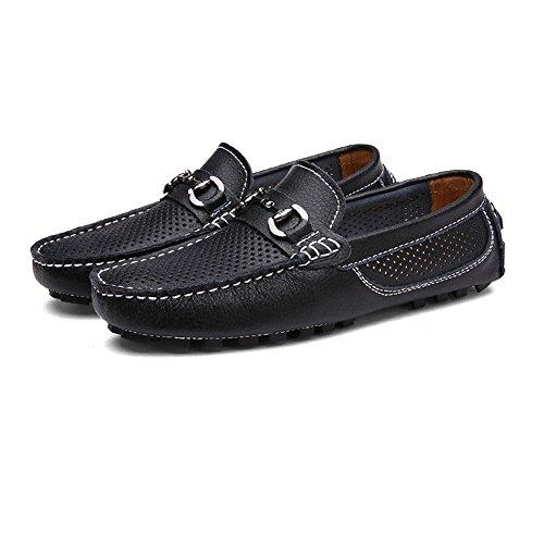 Para Hombre Yajie Los color Zapatos Eu Genuinos Del 2018 Armada shoes Negro Cuero Ocio 38 Tamaño Vaqueros Barco De Mocasines Suave Respirables Suela Hombres wPIqXprxIA