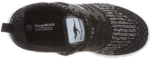 KangaROOS Unisex-Kinder Draga Kids Sneaker Schwarz (Jet Black/Vapor Grey)