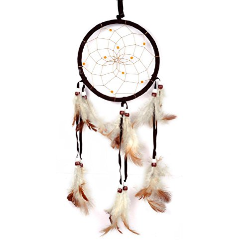 Cren Handmade Dream Catcher with Feathers Hanging Approx 13cm/ 5.12inch Diameter 48cm/18.9inch Long