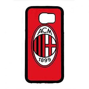 Hybrid Hard Plastic Shell funda de AC Associazione Calcio Milan Football Samsung Galaxy S6 funda de