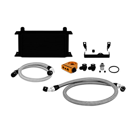 Mishimoto MMOC-WRX-06TBK Black Thermostatic Oil Cooler Kit for Subaru Impreza WRX/WRX STI (Racing Kit Oil Cooler)