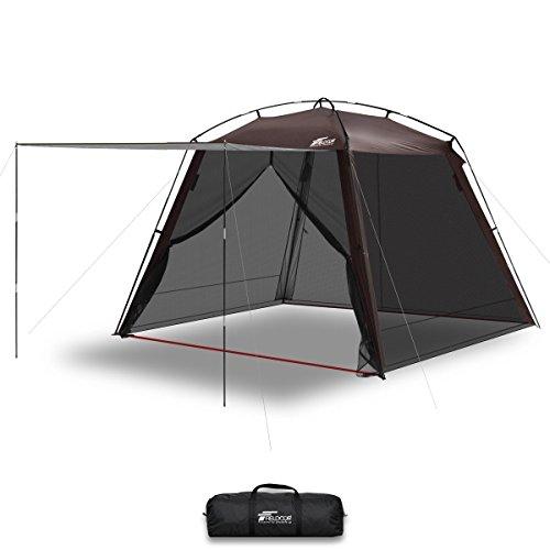 真空はさみFIELDOOR スクリーンテント 3m メッシュスクリーン シェード 虫除け 蚊帳 キャンプ バーベキュー