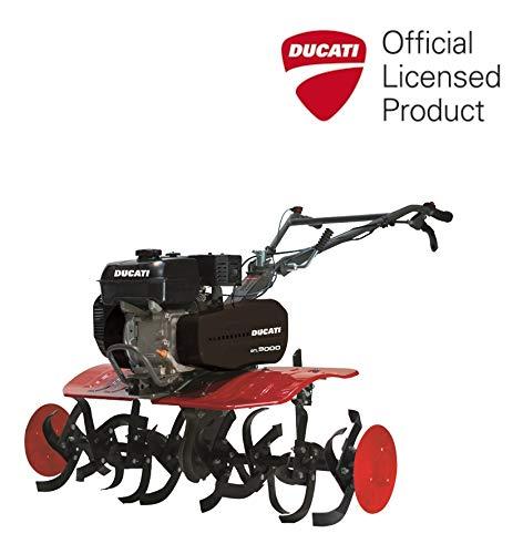 Ducati DTL9000 - Motoazada de 212 cc, 7 HP, 105 cm ancho de corte, incluye fresas y ruedas agrícolas