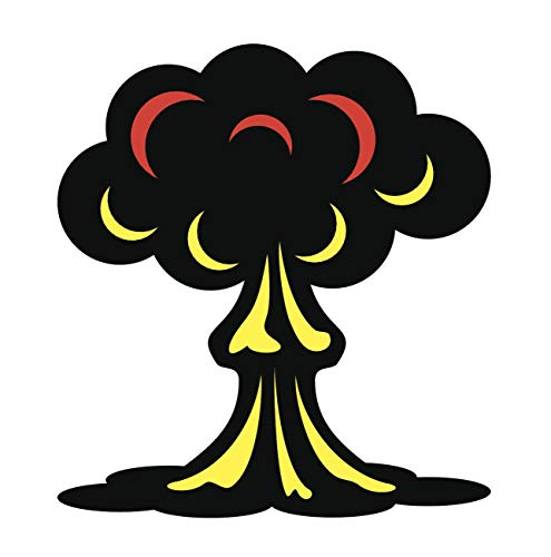 EW Designs Atomic Bomb Mushroom Cloud Vinyl Decal Bumper Sticker (4