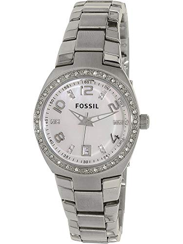 Pearl Watch Of Mother Womans (Fossil Women's AM4141 Serena Silver-Tone Stainless Steel Watch with Link Bracelet)