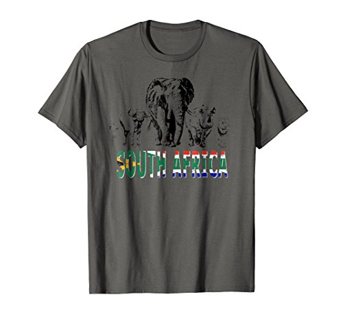 Big Five South African Pride T-shirt for Wildlife Lovers by Wild for Africa Apparel