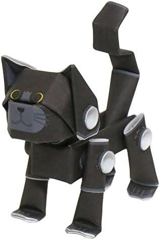 パイプロイド(PIPEROID) アニマルズ 猫 シリーズ 黒猫 - 小学生 から 大人まで 楽しめる 紙工作 クラフトキット - 折り紙 好きの 男の子や 女の子にも [並行輸入品]