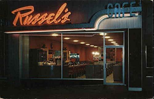 Russel's Cafe Salt Lake City, Utah Original Vintage Postcard from CardCow Vintage Postcards