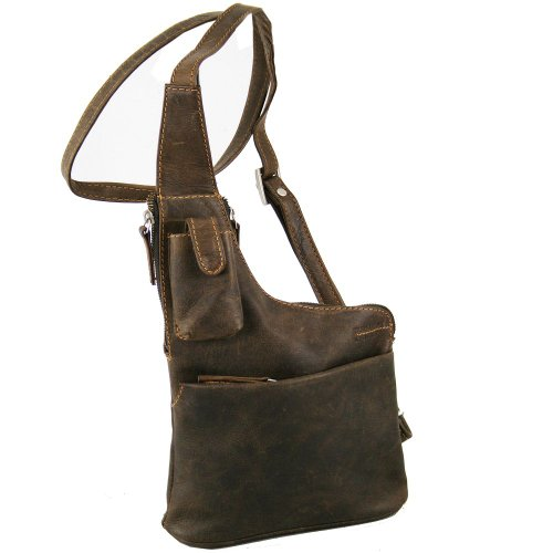 Greenland Westcoast Umhängetasche /Bodybag Leder 20 cm