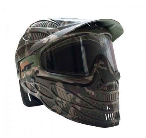 Mask Goggle Full Paintball - JT Spectra Flex 8 Thermal Full Coverage Goggles, Camo, Clear