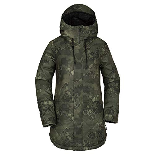 Volcom Women's Winrose Insulated Snow Jacket, Camouflage, Large