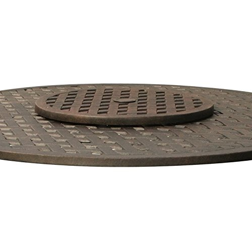 Darlee Outdoor 21'' Lazy Susan in Antique Bronze by Darlee