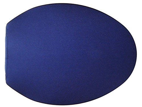 Spandex Fabric Cover for a lid Toilet SEAT fits on Round & Elongated Models - Handmade in USA (Blue Navy) ()