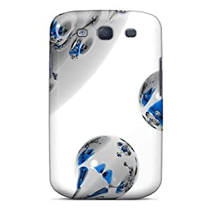 Owyrr19044xKCKy Faddish Spherical White 3d Case Cover For Galaxy S3