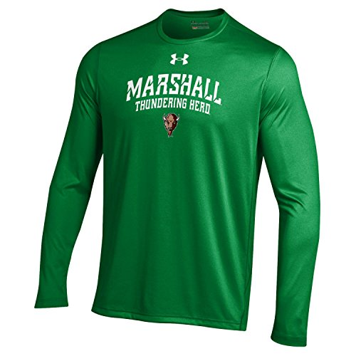 NCAA Marshall Thundering Herd Men's Long Sleeve Tech Tee, Medium, Team Kelly Green