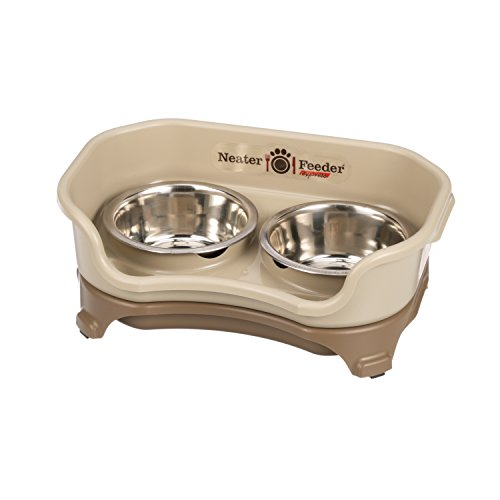 Neater Feeder Express (Small Dog) - With Stainless Steel, Drip Proof, No Tip and Non Slip Dog Bowls and Mess Proof Pet Feeder