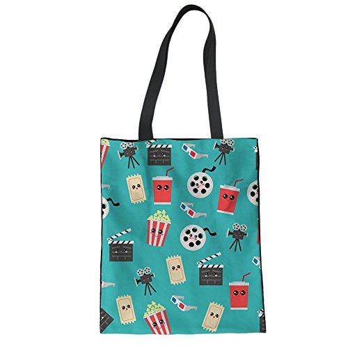 Advocator Bags Beach Tote Work Color for Canvas 9 Women for Shopping Shoulder Durable Holiday Tote Girls Bag 7ttqrP