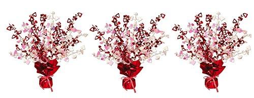 Beistle 70805 Heart Gleam N Burst Centerpiece, 15-Inch