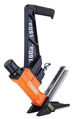 (Freeman PF1618GLCN 3 in 1 16 & 18 Gauge Cleat Flooring Nailer for any type of Nail Down Flooring Ergonomic & Lightweight Nail Gun for Tongue & Grove, Hardwood & Engineered Flooring)