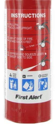 First Alert MNJDHCHG HOME1 ABC 2.5 Pound Rechargeable Fire Extinguisher-HOME1-1-A:10-B:C-10-Year Warranty 3 Pack by First Alert (Image #3)