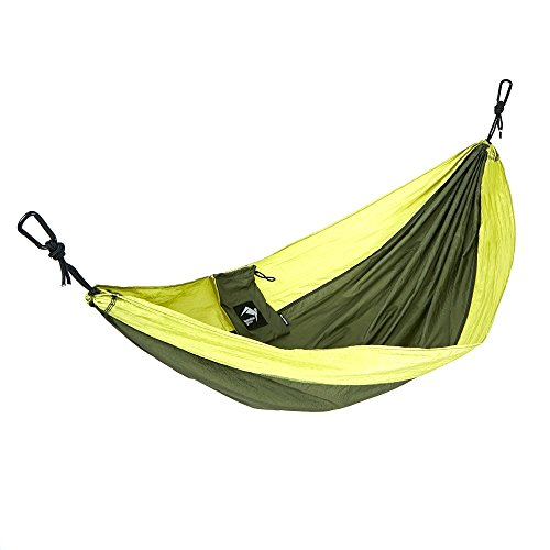 Kondor Gear Kids Hammock w/Hanging Ropes (6-Piece Set) Portable, Lightweight, Heavy DutyParachute Nylon   Outdoor Camping Backyard Tree Chair   Girls, Boys