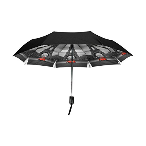 outer black umbrella eiffel tower