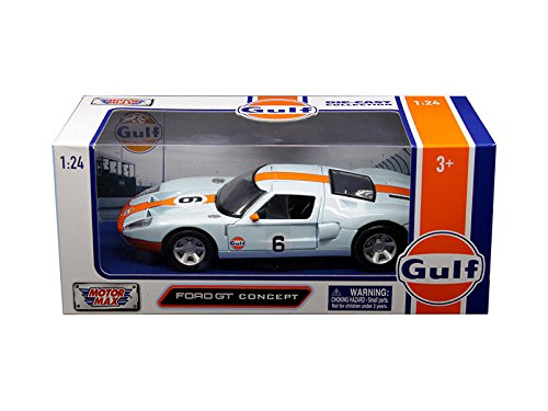 NEW DIECAST TOYS CAR MOTOR MAX 1:24 W/B - GULF - FORD GT CONCEPT 79641