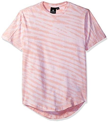 Akademiks Mens Tiger Tie Dye Long Length T-Shirt