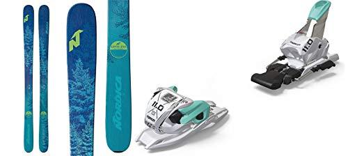 Nordica Santa Ana 93 153cm Skis 2019 & Marker 11.0 TP White Mint 110mm Brake Ski Bindings