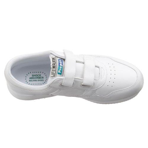 Propet Men's Life Walker Strap Sneaker,White,10.5 M (US Men's 10.5 D)