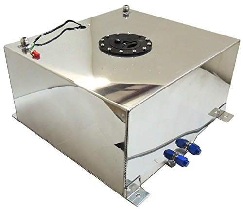 New Polished Aluminum 20 Gallon OEM Fuel Cell / Tank W/ Sender Hot Rod Rat Rod V8 (20 Gallon Fuel Tank)