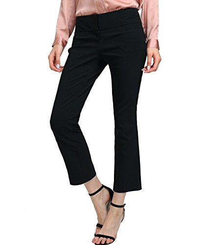 Women's Bootcut Stretch Dress Pants Fit Stretchy Trousers Basic Office Stretch - Dress Cropped Pants