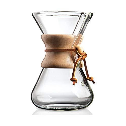 Chemex Cafetera de vidrio, Classic, Transparente, 6 Tazas