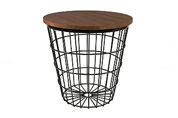 Beistelltisch Drahtkorb Tisch Aus 4 Mm Starkem Stahl O 50 Cm