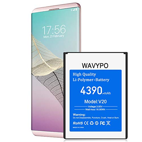 (Upgraded) Wavypo LG V20 Battery, 4390mAh Replacement Battery Li-Polymer for LG V20 BL-44E1F H910 H918 VS995 LS997 US996, V20 Spare Battery [36 Months Warranty]