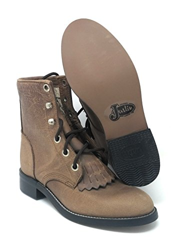 Justin Girls Small Kid Bay Apache Boots Western Style # 545C Size 11.5 D -