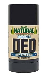 Sam's Natural Deodorant/Deoderant - Original 3 oz - Natural - Vegan and Cruelty Free - America's Favorite