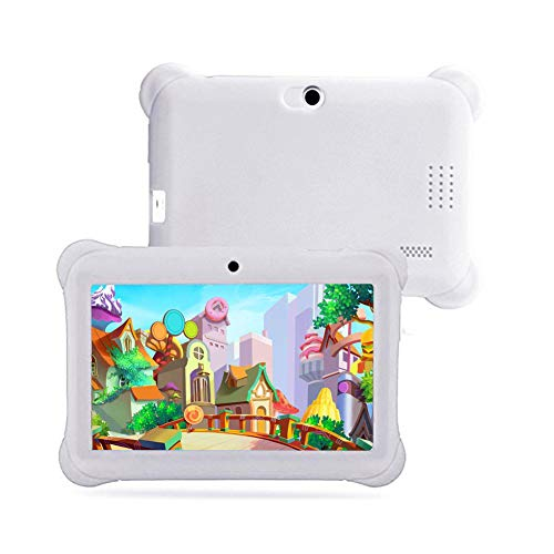 7inch Tablet for Children, 4.4 IPS Quad Core HD Tablet, Parental Control Electronic Toys Early Learning Kids Tablet, with Silicon Case