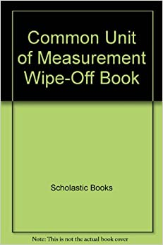 Book Common Unit of Measurement Wipe-Off Book