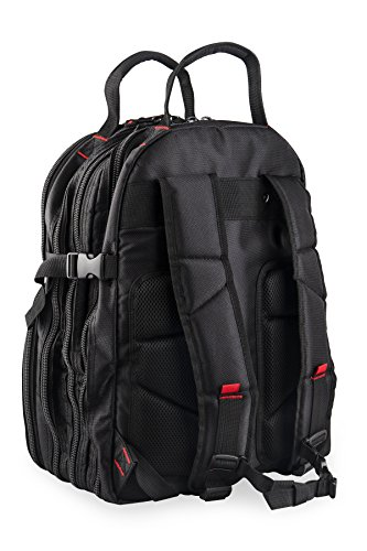 Tradesman Tool Storage Organizer Backpack: Heavy Duty Jobsite Bag with 50+ Pockets for Multiple Tools - Tool Box Backpacks for an Electrician, HVAC Contractor, Carpenter or Construction Work - Black by Tradesman Tool Storage (Image #2)