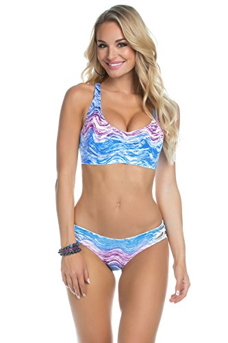 Becca by Rebecca Virtue Women's Racerback Bikini Top (D+ Cup) Water S D-Cup