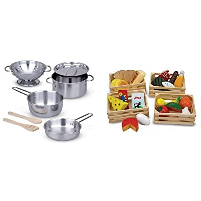 Melissa & Doug Food Groups & Pots and Pans Bundle: Toys & Games